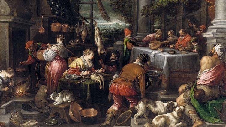 Леандро Бассано, «Богач и Лазарь», ХVI век