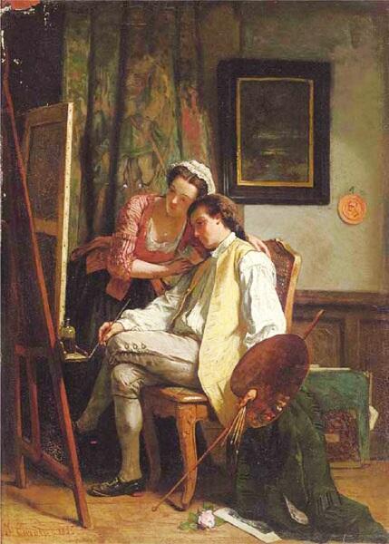 Жан Каролюс, «Последний штрих», 1855 г.