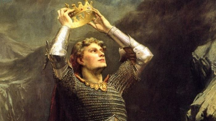 Чарльз Эрнест Батлер, «Король Артур», фрагмент, 1903 г.