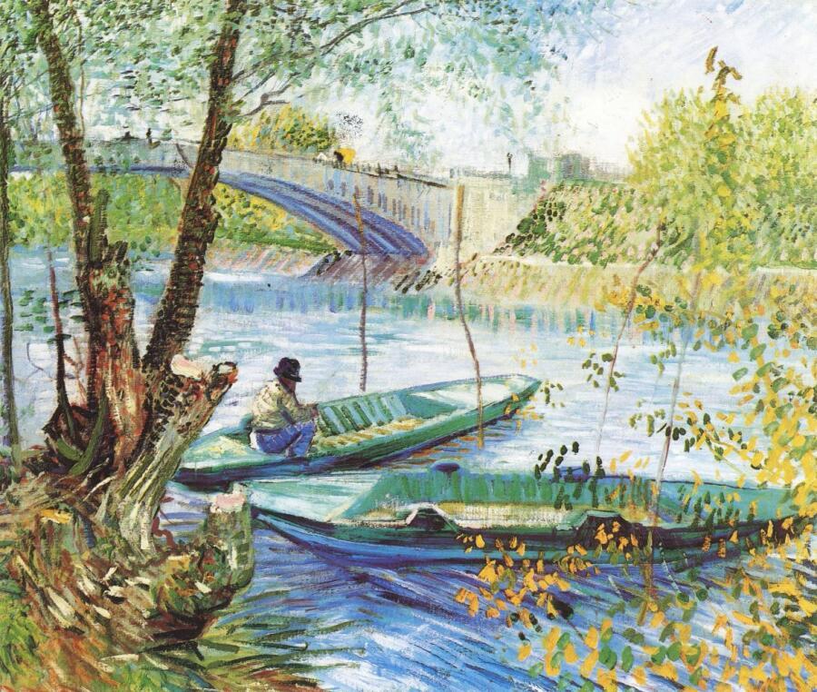 Винсент Ван Гог, «Весенняя рыбалка у моста Клиши», 1887 г.