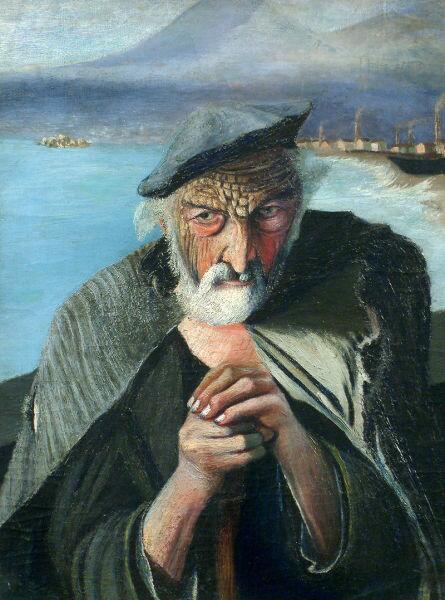 Тивадар Костка Чонтвари, «Старый рыбак», 1902 г.