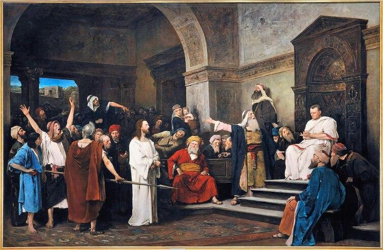 М. Мункачи, «Христос перед Пилатом», 1881 г.