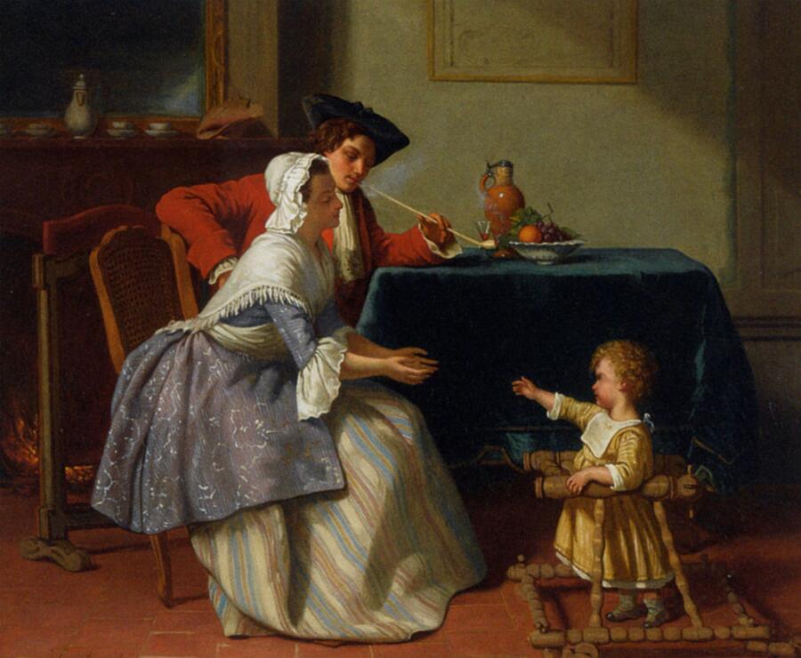 Жан Каролюс, «Малыш делает первые шаги», 1855 г.