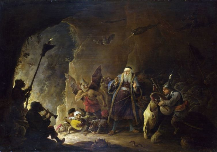 Давид Тенирс Младший, «Богача ведут в ад»
