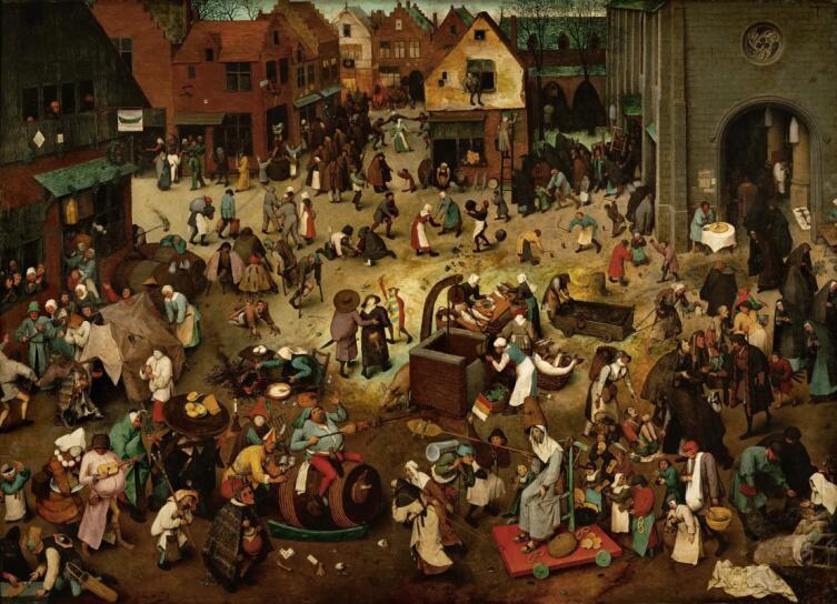 Питер Брейгель Старший, «Битва Поста и Масленицы» 1559 г.