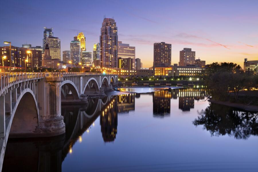 Миннеаполис - крупнейший город штата Миннесота