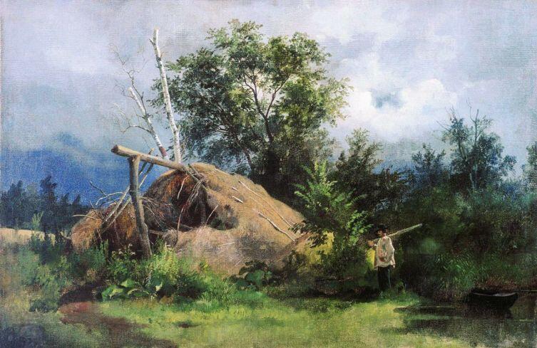 И. И. Шишкин, «Шалаш», 1861 г.