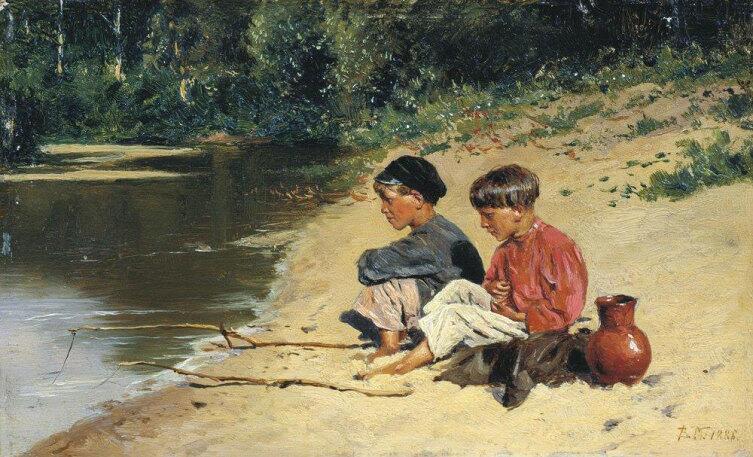 В. Е. Маковский, «Рыбачки», 1886 г.