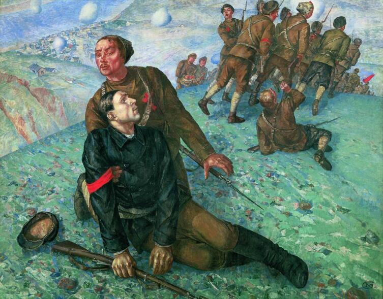 К. С. Петров-Водкин, «Смерть комиссара», 1928 г.