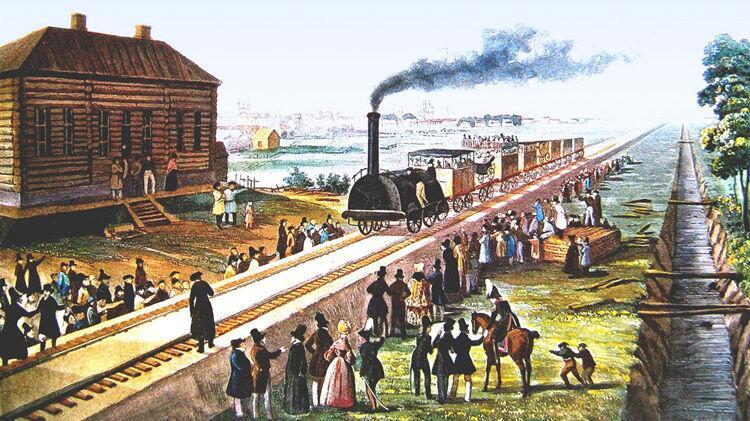 Фредерик Мартенс, «Царскосельская железная дорога», 1837 г.