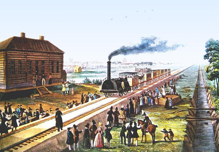 всех существующих первые железные дороги в россии при каком царе имитации бруса