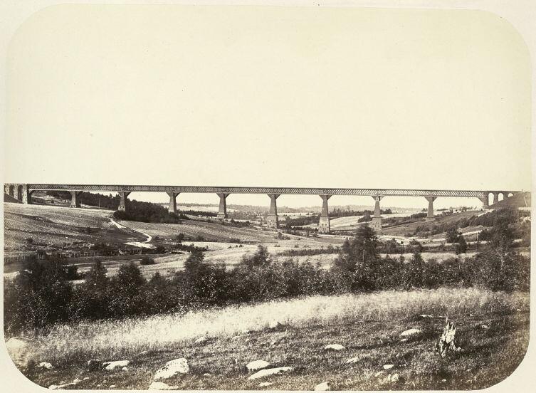 Веребьинский мост, Николаевская железная дорога, 1860-е гг.