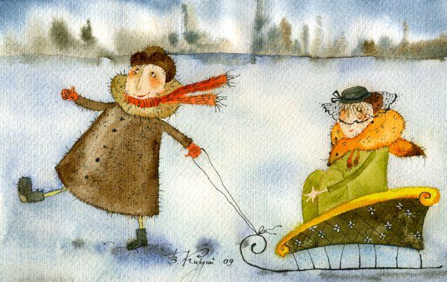 Виктория Кирдий, «Крамской нашёл свою незнакомку», 2009 г.