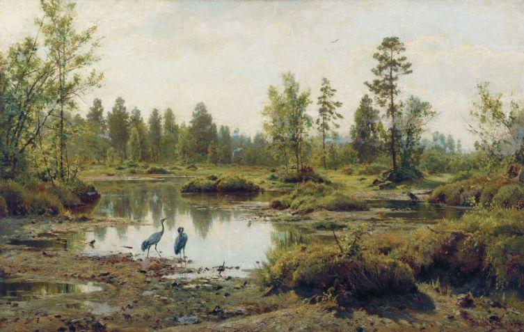 И. И. Шишкин, «Болото. Полесье», 1890 г.