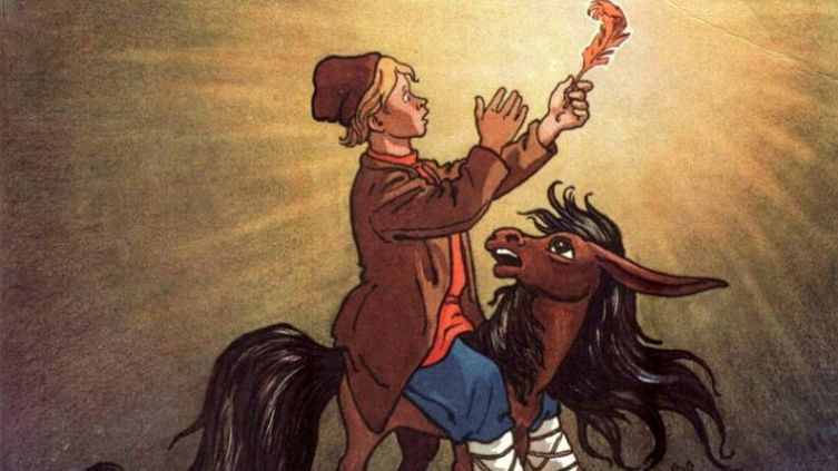 Н. Кочергин,иллюстрация к сказке «Конёк-Горбунок»
