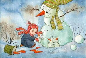 Не просто снеговичок, а настоящий дух зимы...