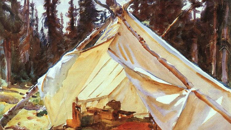 Джон Сингер Сарджент, «Палатка в Скалистых горах», 1916 г.