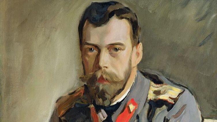 В. А. Серов, «Николай II», фрагмент