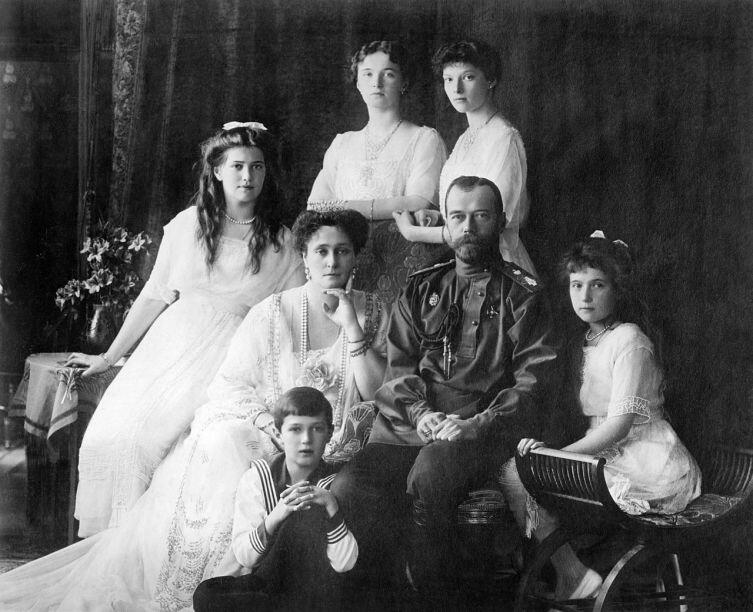 Царская семья в 1913 году