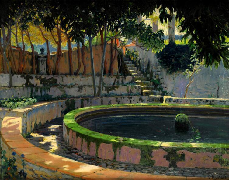 Сантьяго Рузиньол, «Элегический сад», ок. 1903 г.