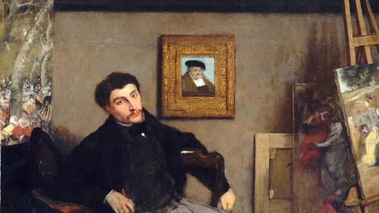 Эдгар Дега, «Портрет Джеймса Тиссо», фрагмент, 1867 г.
