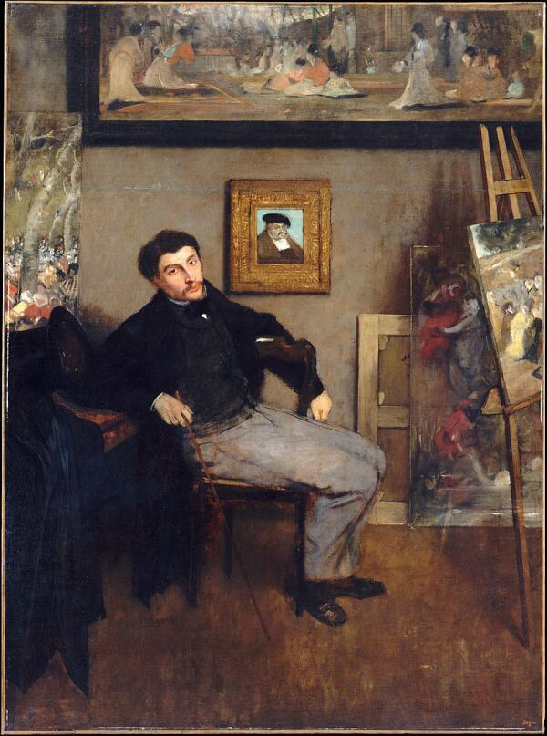 Эдгар Дега, «Портрет Джеймса Тиссо», 1867 г.