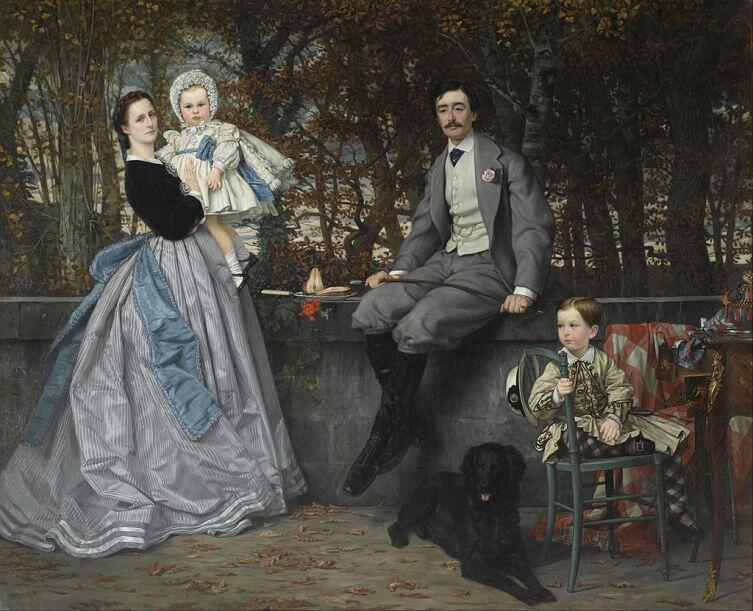 Джеймс Тиссо, «Портрет маркиза и маркизы Мирамон», 1865 г.