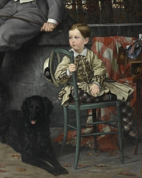 Джеймс Тиссо, «Портрет маркиза и маркизы Мирамон», фрагмент «Сын», 1865 г.