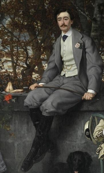 Джеймс Тиссо, «Портрет маркиза и маркизы Мирамон», фрагмент «Маркиз», 1865 г.