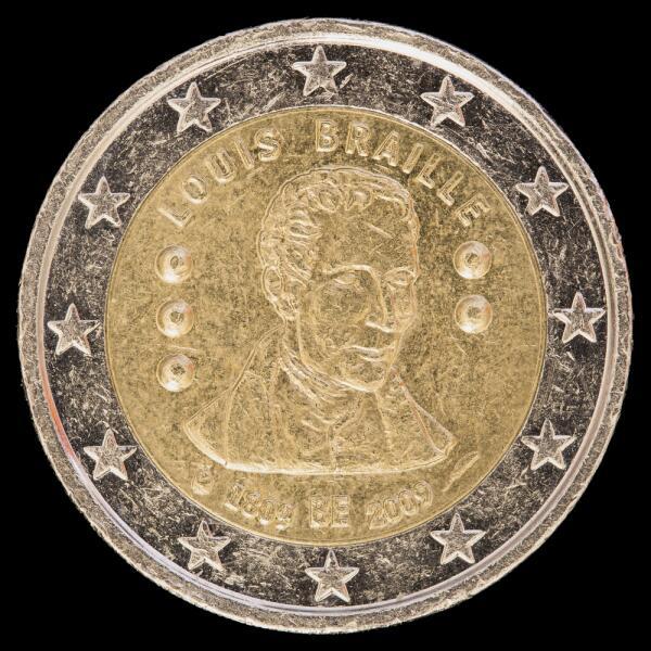 Памятная 2 евро монета, выпушеная в Бельгии в 2009 году