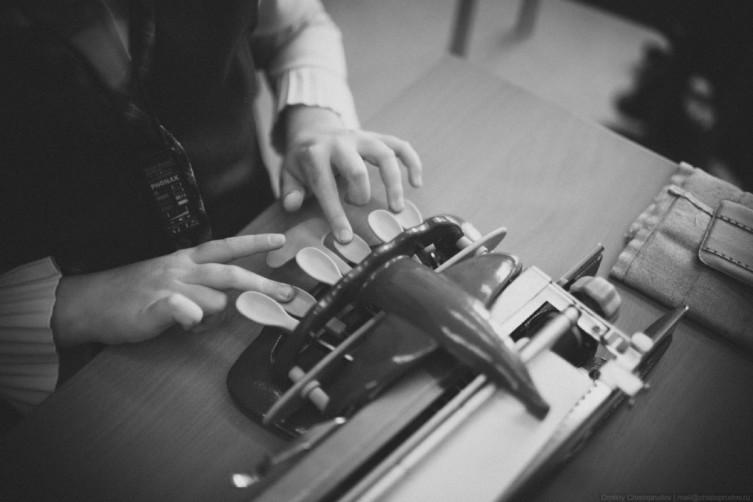 Печатающая машинка для системы Брайля