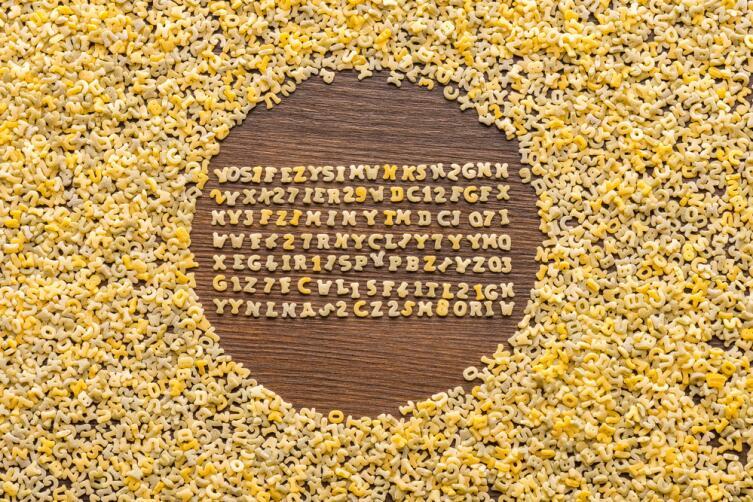 Алфавит из вермишели