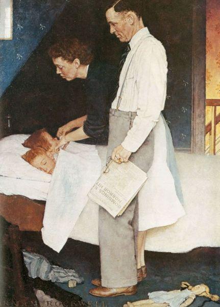 Норман Роквелл, «Свобода от страха», серия «Четыре свободы», 1943 г.
