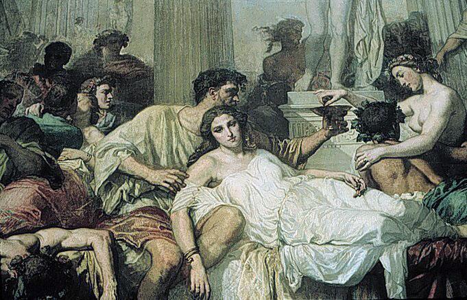 Тома Кутюр, «Римляне времен упадка», фрагмент