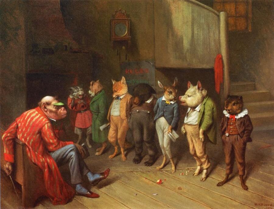 Уильям Холбрук Берд, «Школьные правила», 1887 г.
