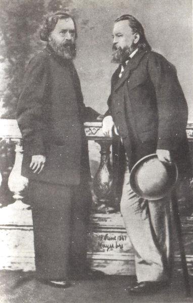 Издатели «Колокола» А. И. Герцен и Н. П. Огарёв, лето 1861 года