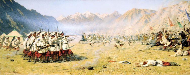 В. В. Верещагин, «Нападают врасплох», 1871 г.