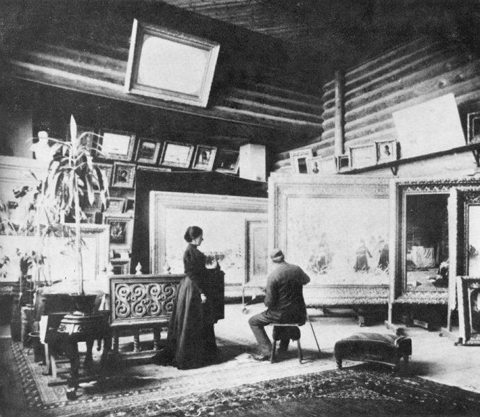 Мастерская В. В. Верещагина в его доме в Нижних Котлах