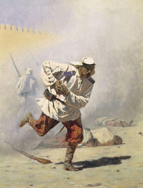В. В. Верещагин, «Смертельно раненный», 1871 г.