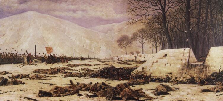 В. В. Верещагин, «Скобелев под Шипкой», позднее повторение одноименной картины 1880-е гг.