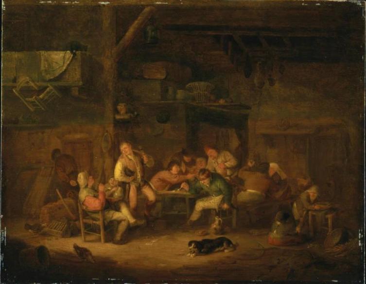 Адриан Янс ван Остаде, «Крестьянская пирушка», 1635 г.