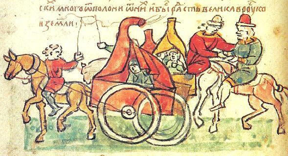 Половцы. Миниатюра из Радзивилловской летописи