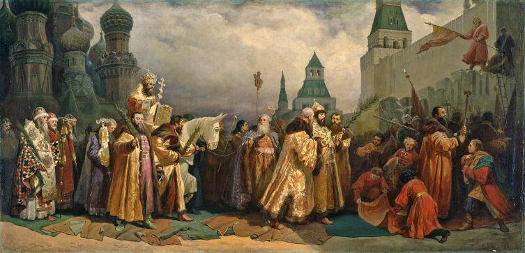 В. Б. Шварц, «Вербное Воскресенье в Москве в царствование Алексея Михайловича», 1865 г.