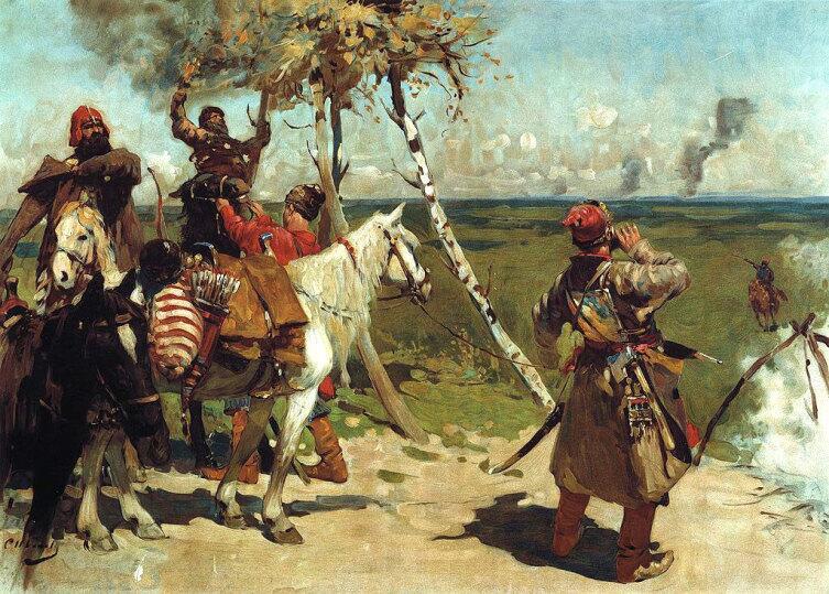С.В. Иванов, «На сторожевой московской границе», 1907 г.