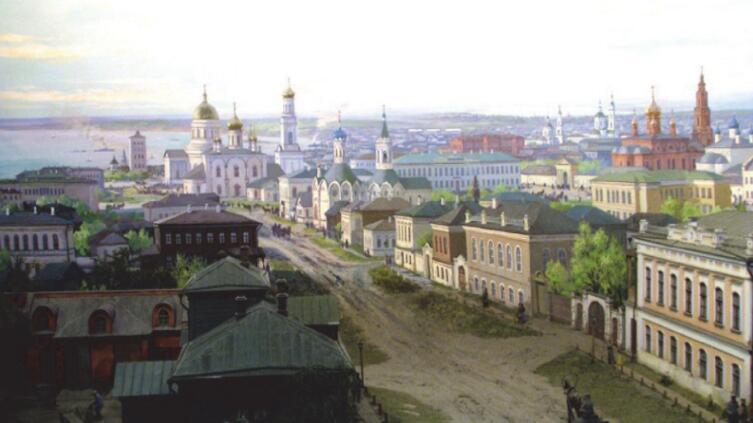 Неизвестный автор, «Улица Стрелецкая в старом Симбирске»