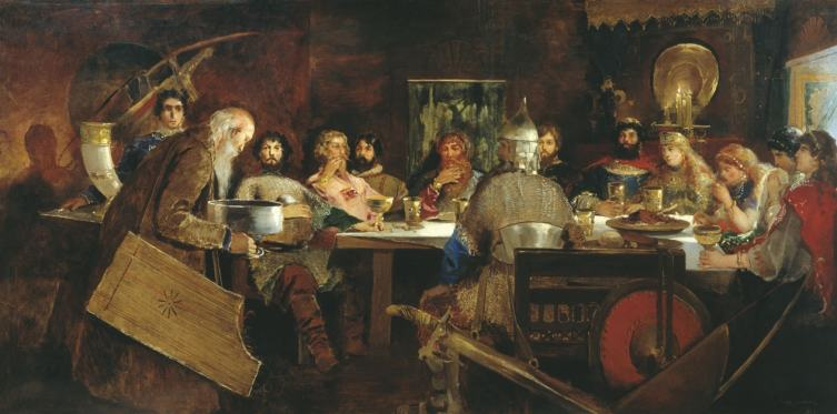 А. П. Рябушкин, «Пир богатырей у ласкового князя Владимира», 1888 г.