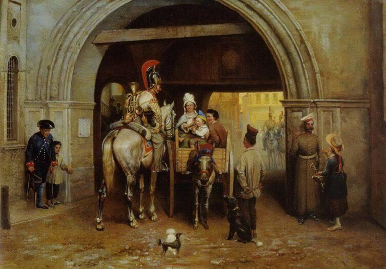 Б. П. Виллевальде, «Лейб-гвардии конный полк в Париже»