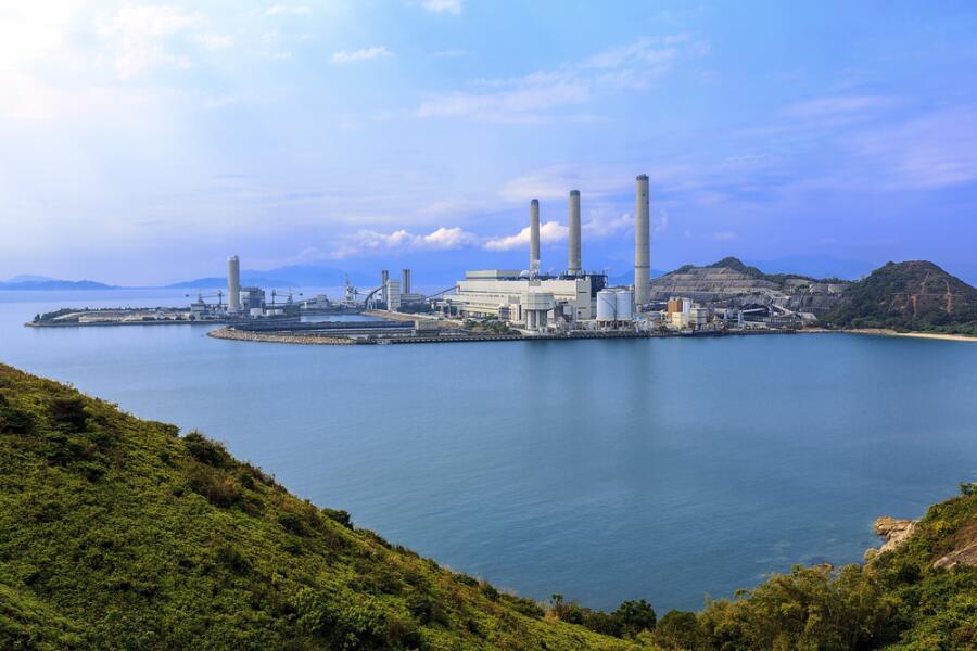Угольные электростанции на острове Ламма, Гонконг, Китай