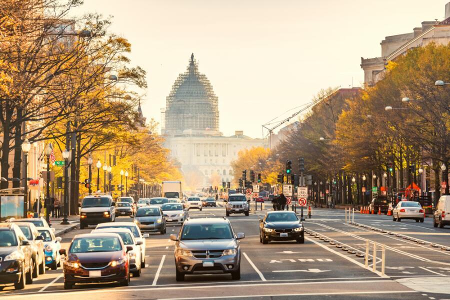 Пенсильвания-авеню в Вашингтоне, округ Колумбия, США