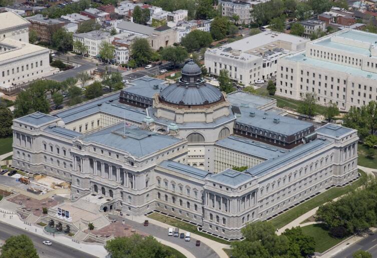 Библиотека Конгресса в Вашингтоне, округ Колумбия, США
